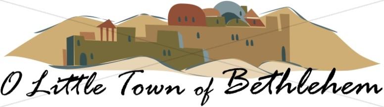 Bethlehem clipart o little town. Of nativity