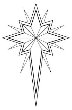 Symbol black line art. Christian clipart star