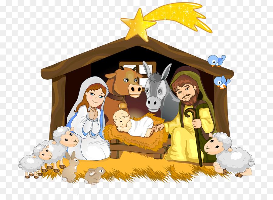 Bethlehem clipart scene. Jesus background cartoon illustration
