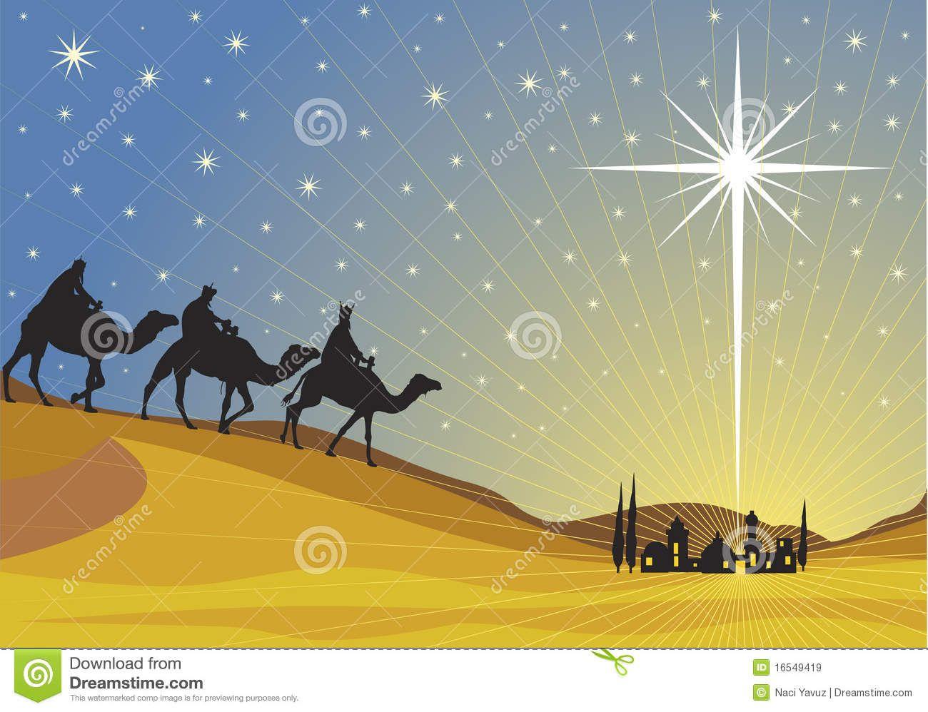 Star of classic three. Bethlehem clipart scenery