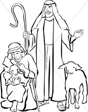 Shepherds and other christmas. Nativity clipart shepards