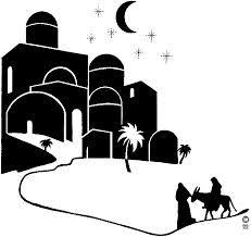 Bethlehem clipart silhouette. Svg christmas vinyl nativity