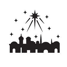 Layered a card design. Bethlehem clipart silhouette