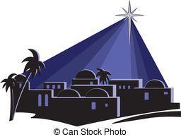 Clip art and stock. Bethlehem clipart silhouette