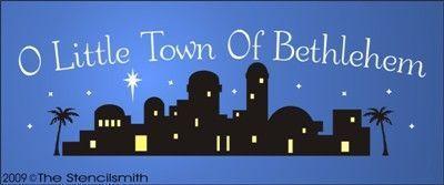 Bethlehem clipart silhouette. Of town o little