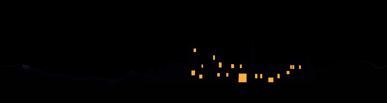 Skyline clip art christmas. Bethlehem clipart silhouette