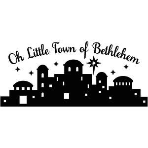 Design store view oh. Bethlehem clipart silhouette