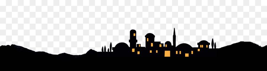 Silhouette clip art christmas. Bethlehem clipart skyline