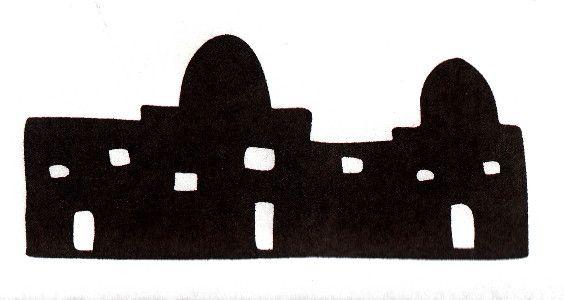 Cut out foam core. Bethlehem clipart skyline