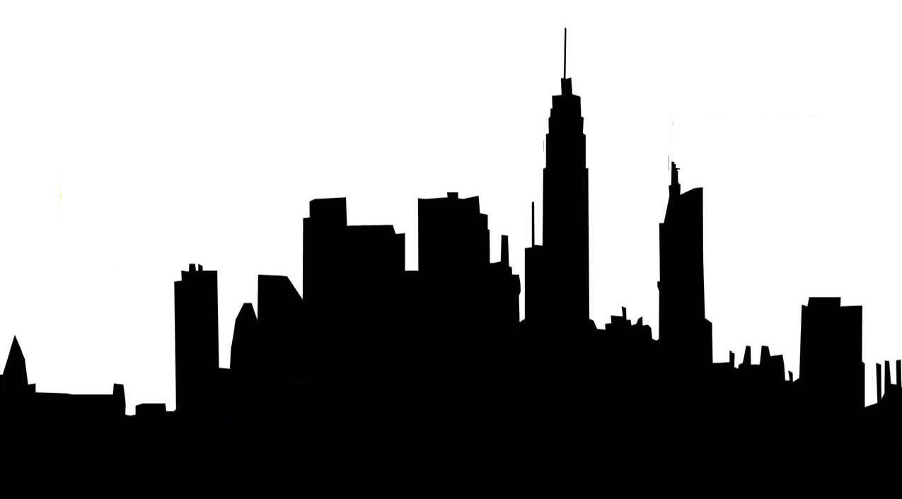 City of silhouette at. Bethlehem clipart skyline