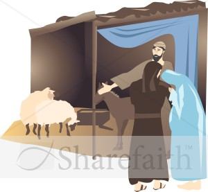Bethlehem clipart stable. Mary and joseph at