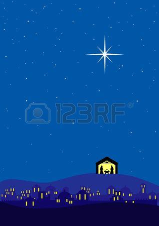 Stock kar csony rnyj. Bethlehem clipart vector