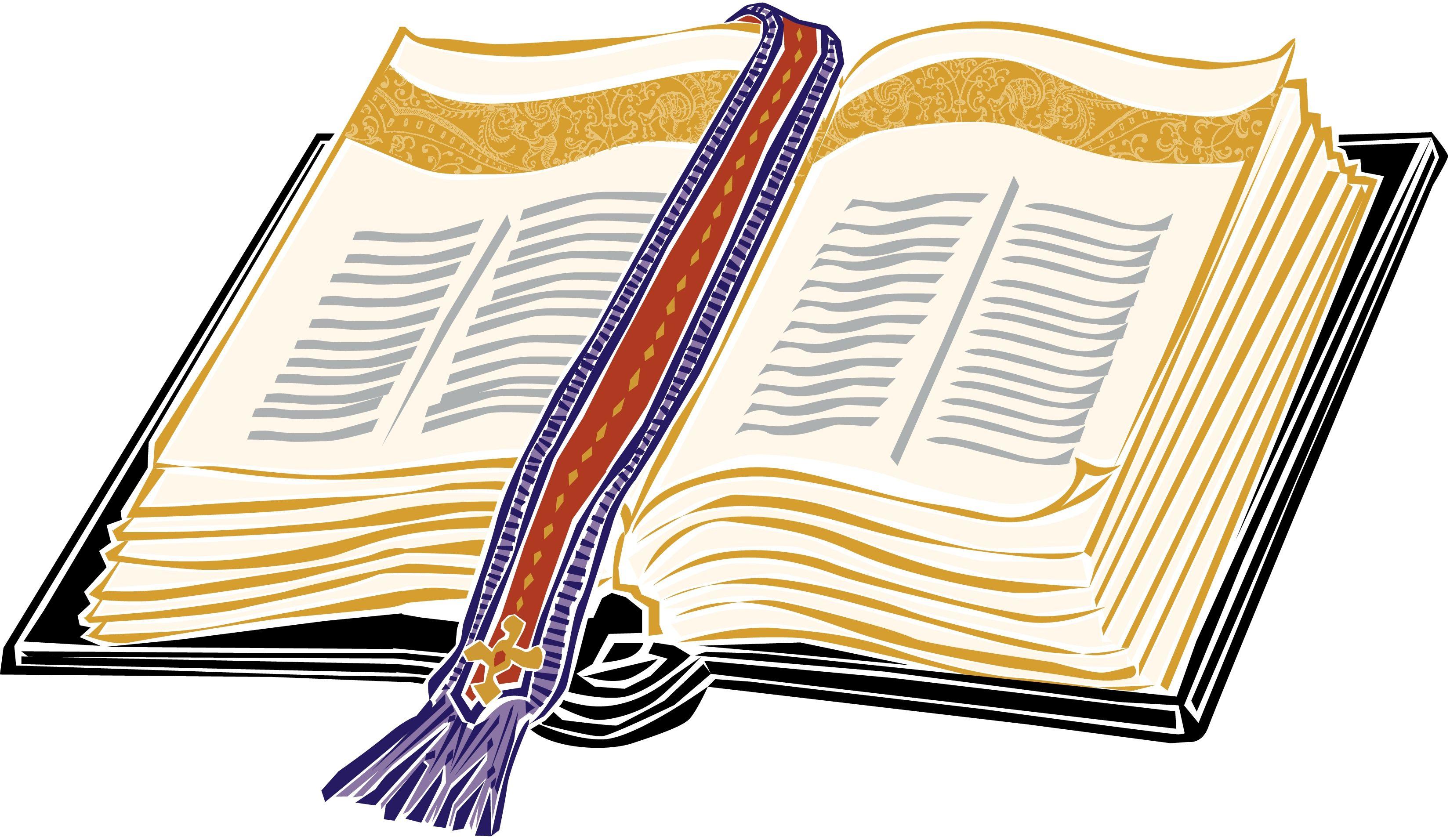 Bible clipart. Gold open christian kid