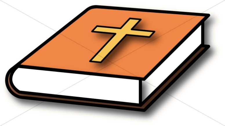 With orange cover. Bible clipart