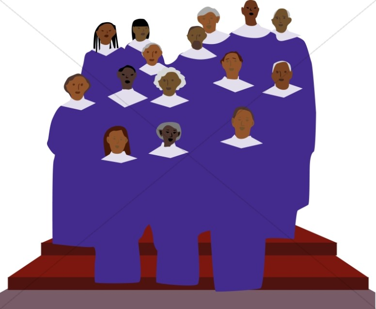 Announcement clipart group. African american gospel singers