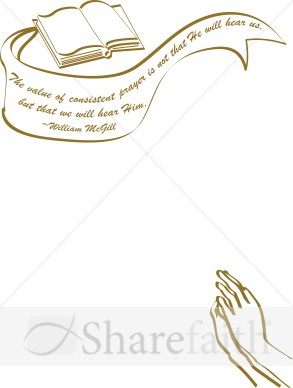 Bible clipart borders. William mcgill quote frame