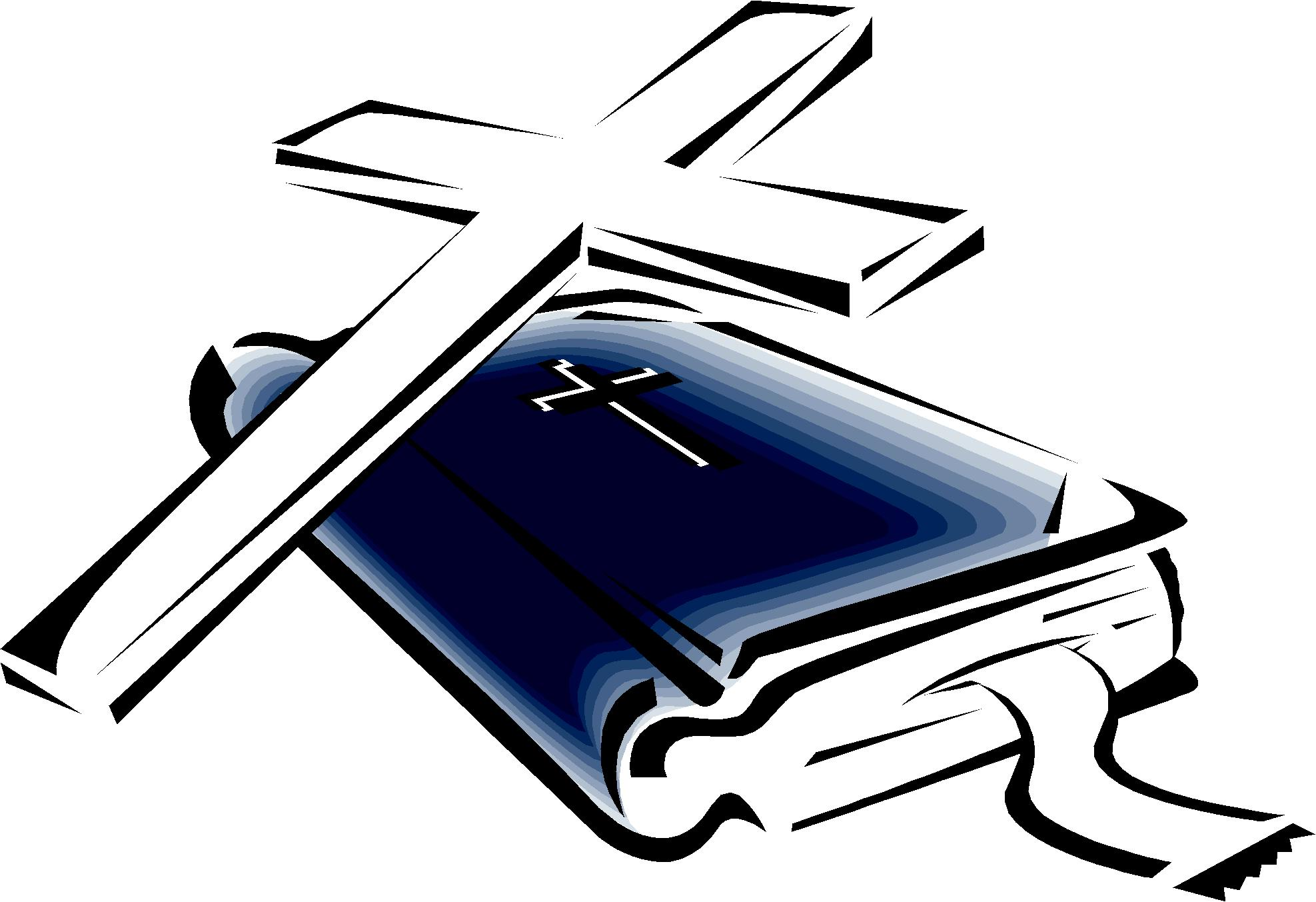 Crucifix clipart bible. Cross and