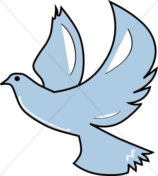 Dove ascending. Doves clipart blue