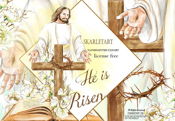 Jesus resurrection watercolor resurrectionwatercolor. Bible clipart easter