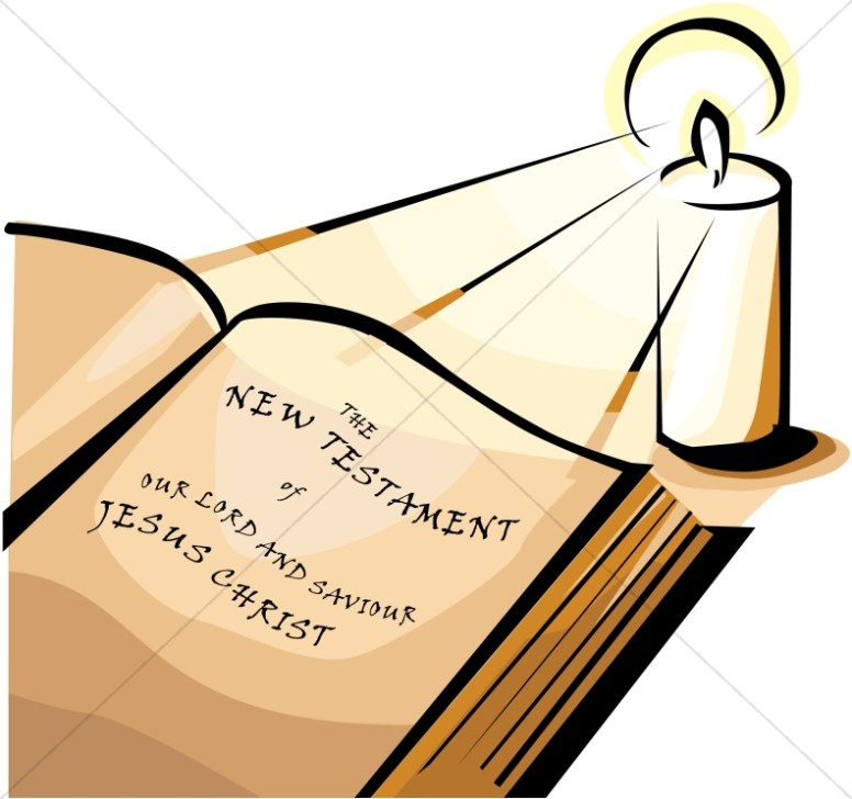 Bible clipart new testament. The by candlelight