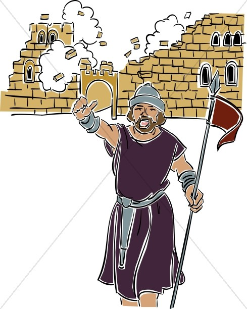 Joshua at the of. Battle clipart