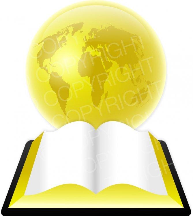 Bible clipart open bible. Gold globe illustration prawny