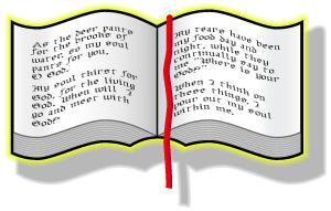 Bible clipart open bible. Clip art free panda