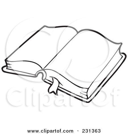 Clip art illustration of. Bible clipart outline