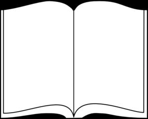 Bible clipart outline. Open book clip art