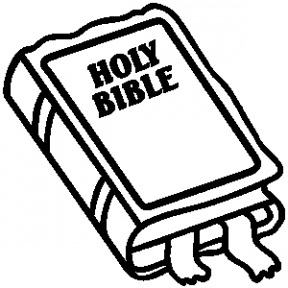 Bible clipart outline. Scripture black and white