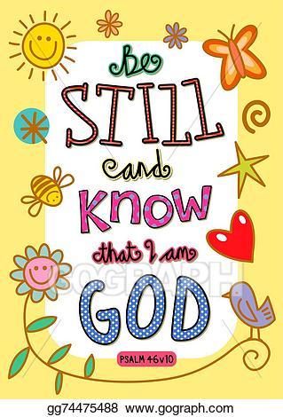 Bible clipart psalm. Stock illustration verse art