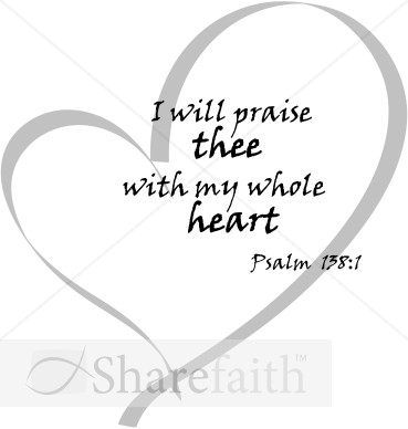 I will praise thee. Bible clipart psalm