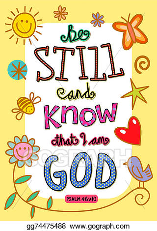 Stock illustration verse art. Bible clipart psalm