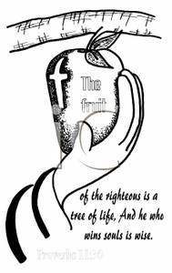 Bible clipart psalm. A black and white