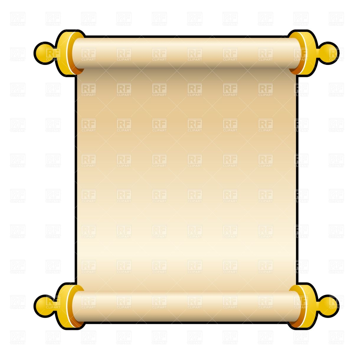Greek clipart scroll. Ancient parchment vector image