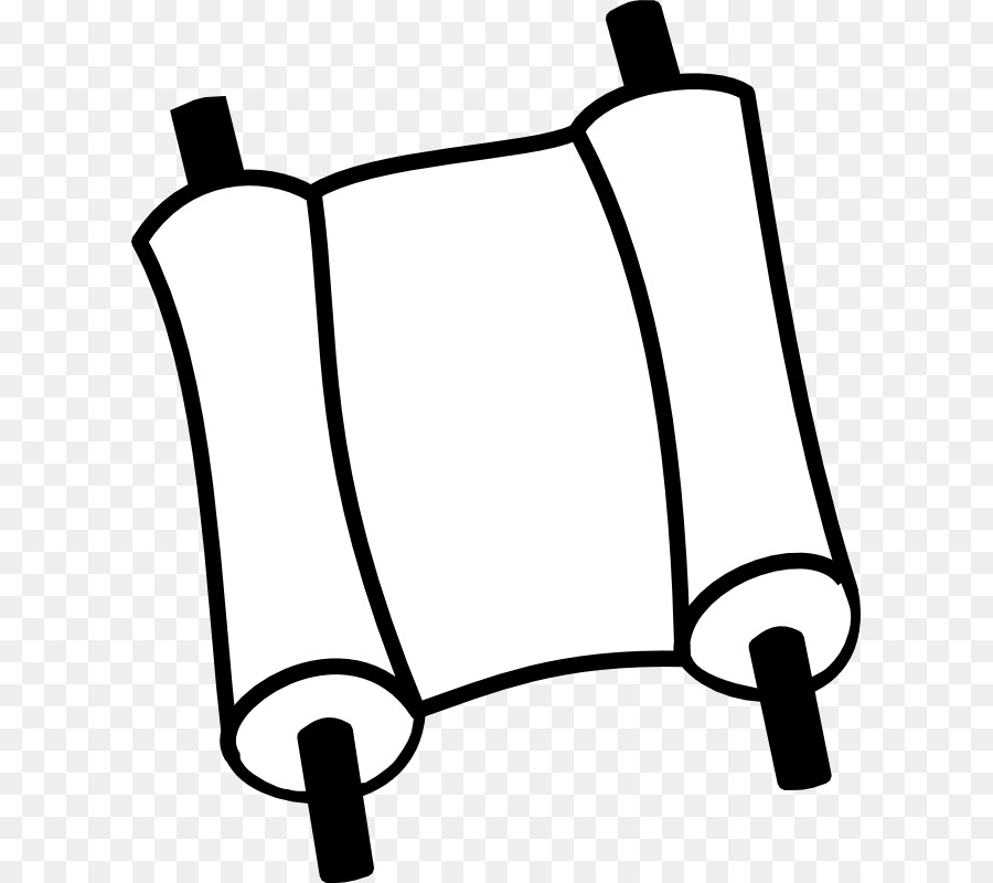 Book black and white. Scroll clipart bible