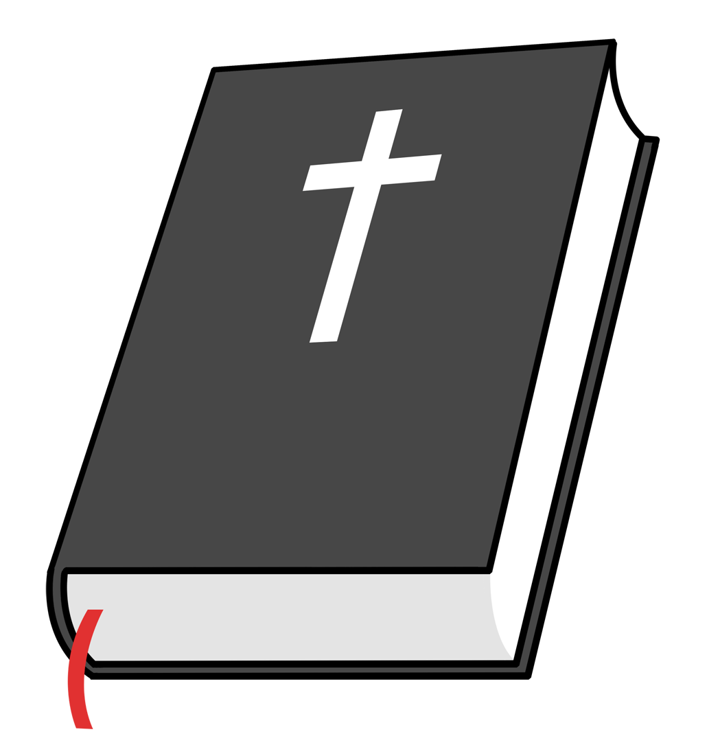 White clipart bible. This simple clip art