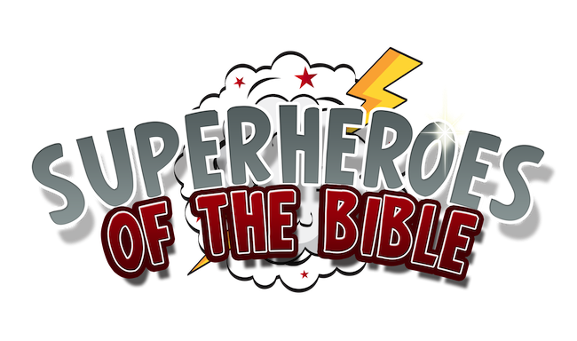 Superheroes of the lesson. Bible clipart superhero