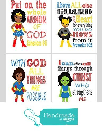Set of christian wall. Bible clipart superhero