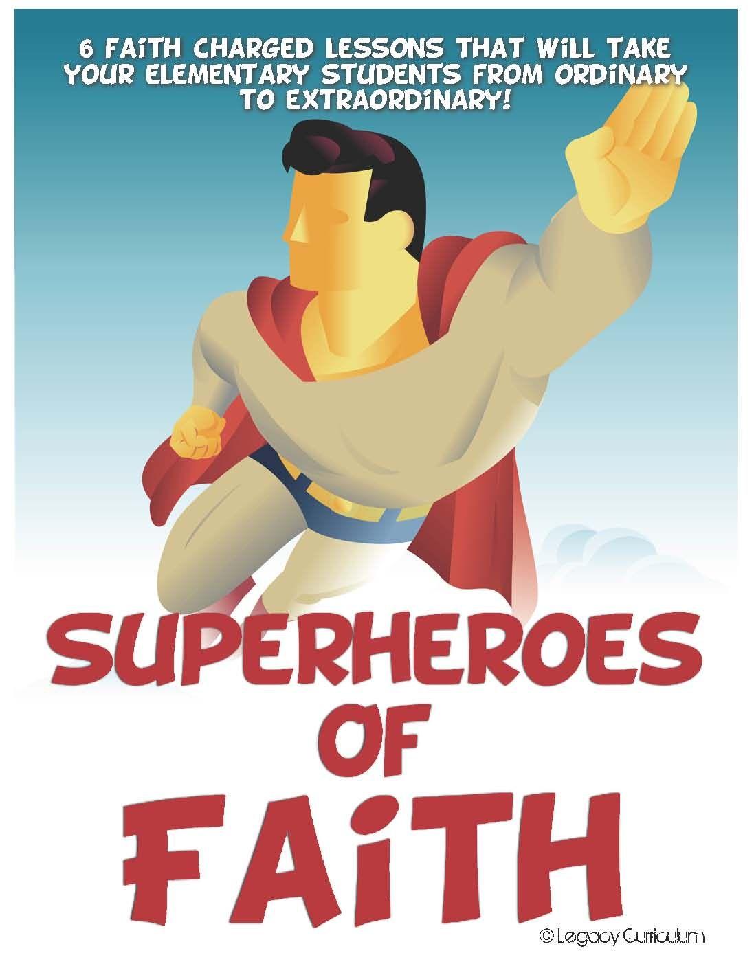 Superheroes of faith week. Bible clipart superhero
