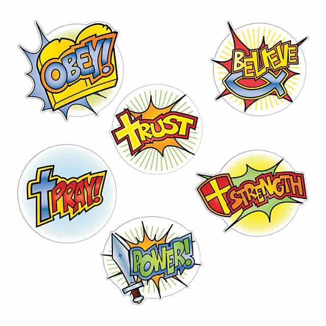 Bible clipart superhero. Faith mini cutouts
