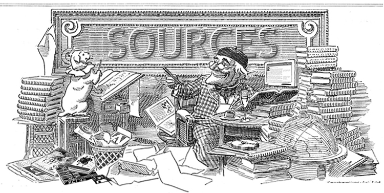 Bibliography clipart black and white. Sourcessplash