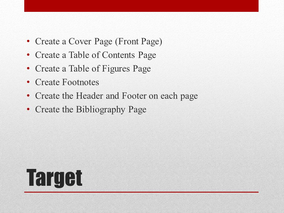 Bibliography clipart contents page. Using microsoft office word