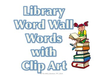 Bibliography clipart dictionary. Library word wall words