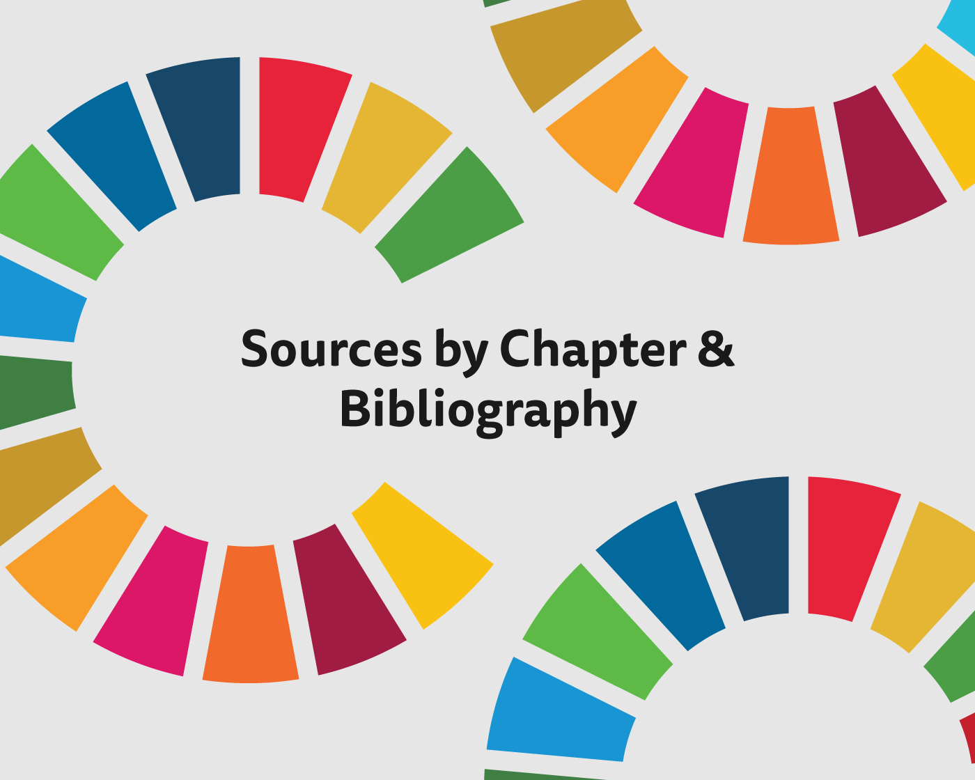 Bibliography clipart excerpt. Sources by chapter sdg