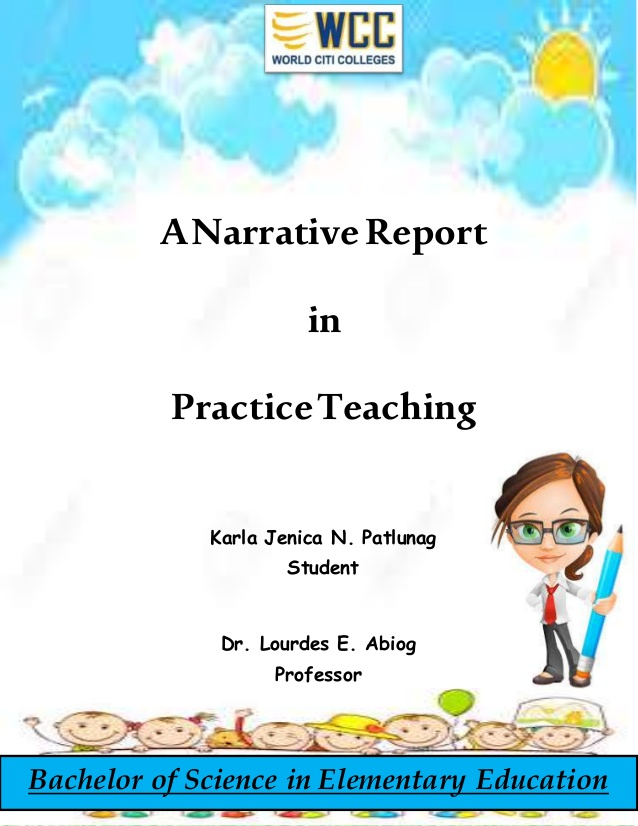 In practice teaching . Bibliography clipart narrative report