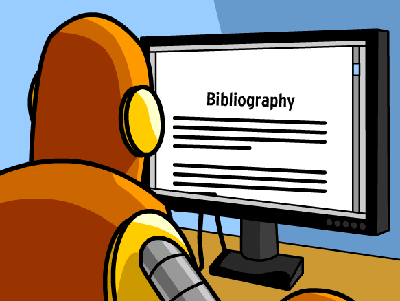 Citing sources brainpop to. Bibliography clipart source