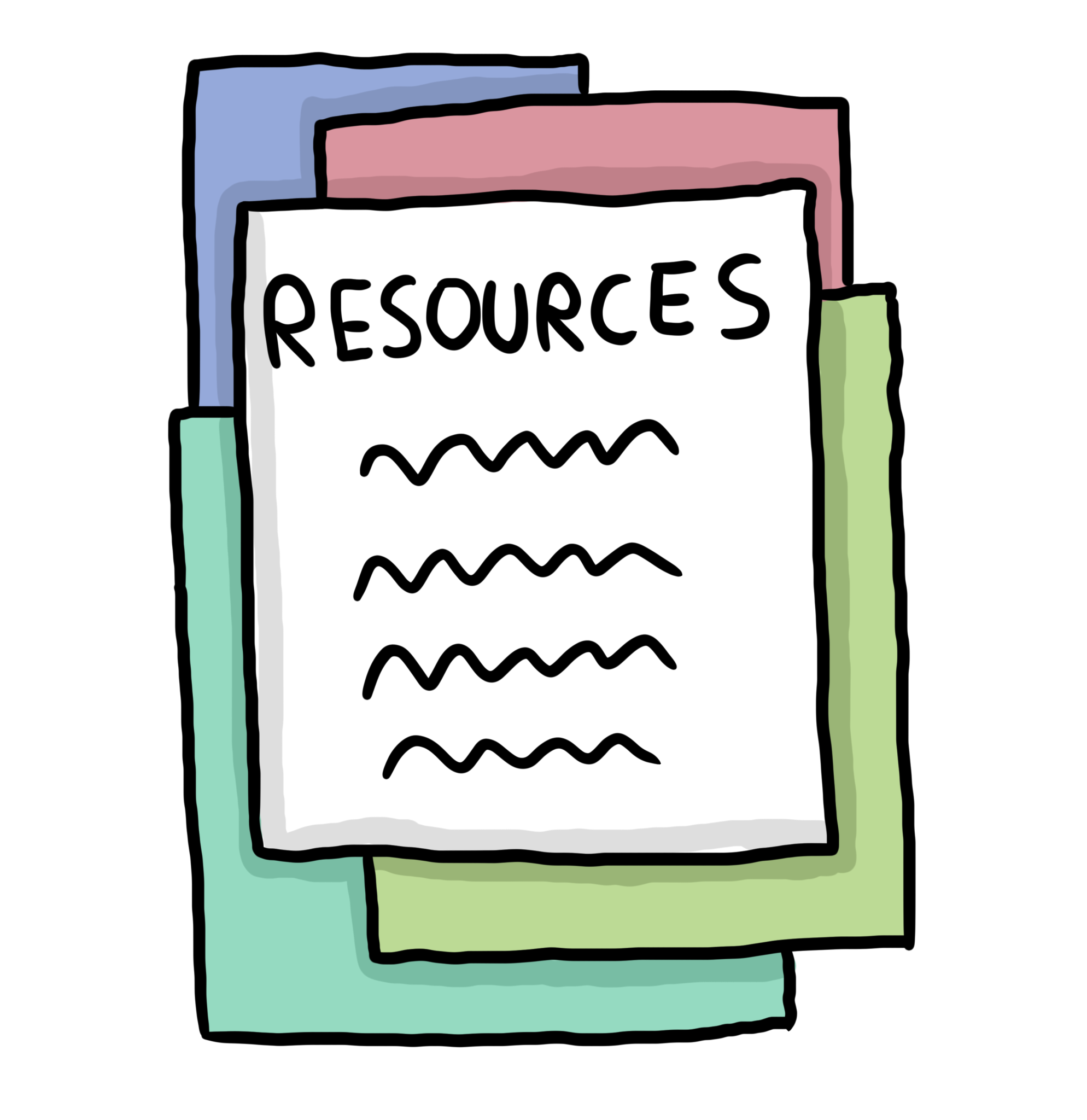 Writing resources . Bibliography clipart source