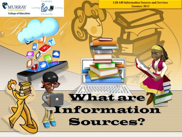 Bibliography clipart source information. What are sources lib