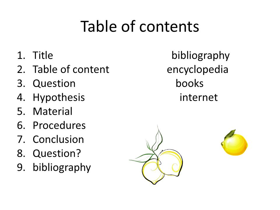 Apple dehydration ppt video. Bibliography clipart table contents